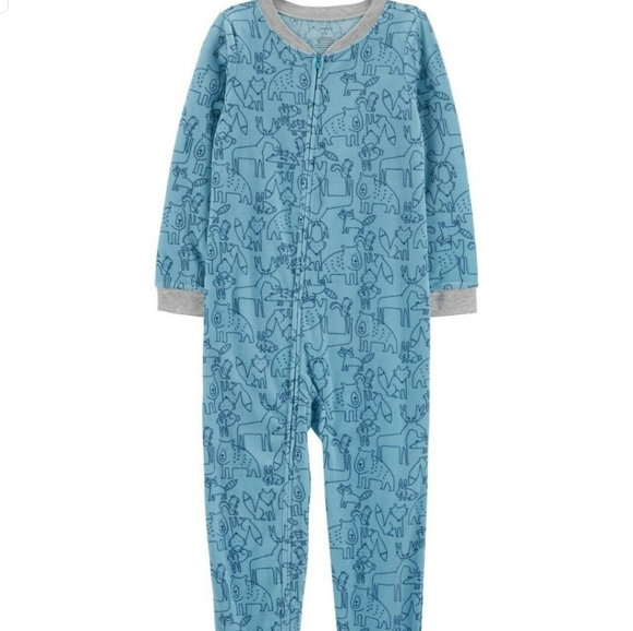CARTER/'S® Baby Boy 12M Penguin Footed Pajama or Fleece Sleeper NWT